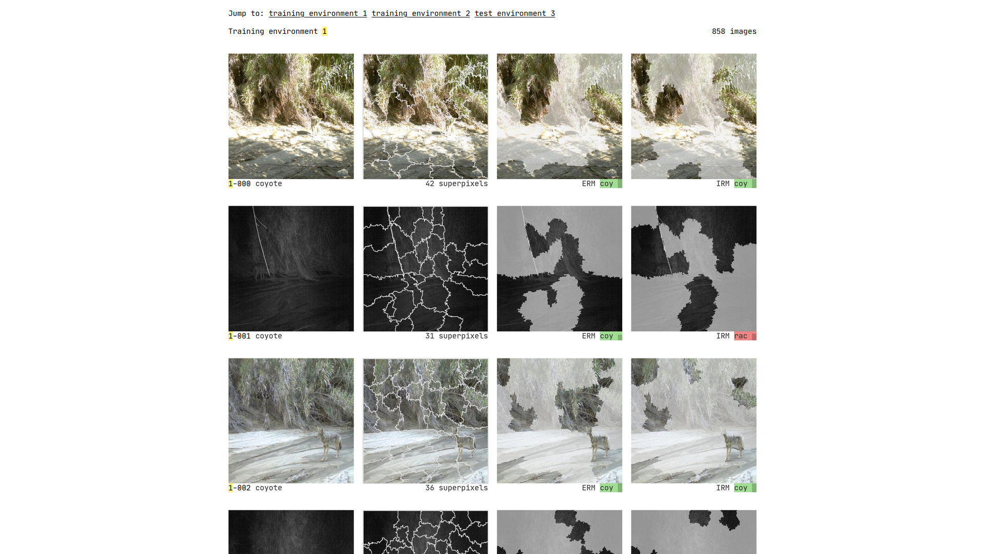 View all the images in the dataset on the all page.